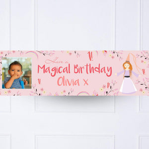 Princess Magic 1st Birthday Personalised Party Banner
