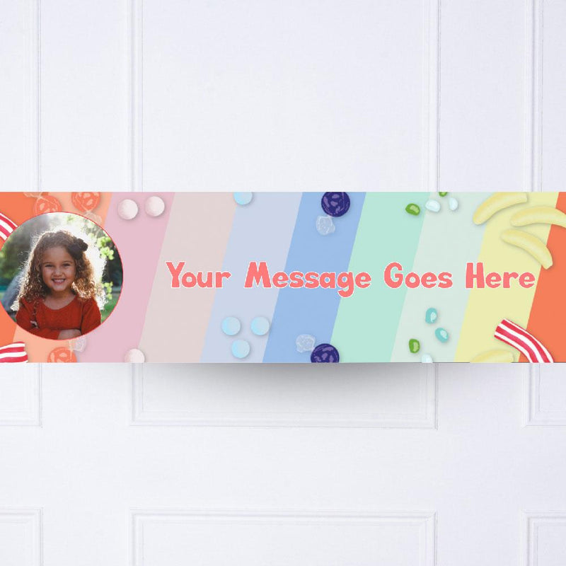 Kids Colour Wheel Personalised Party Banner