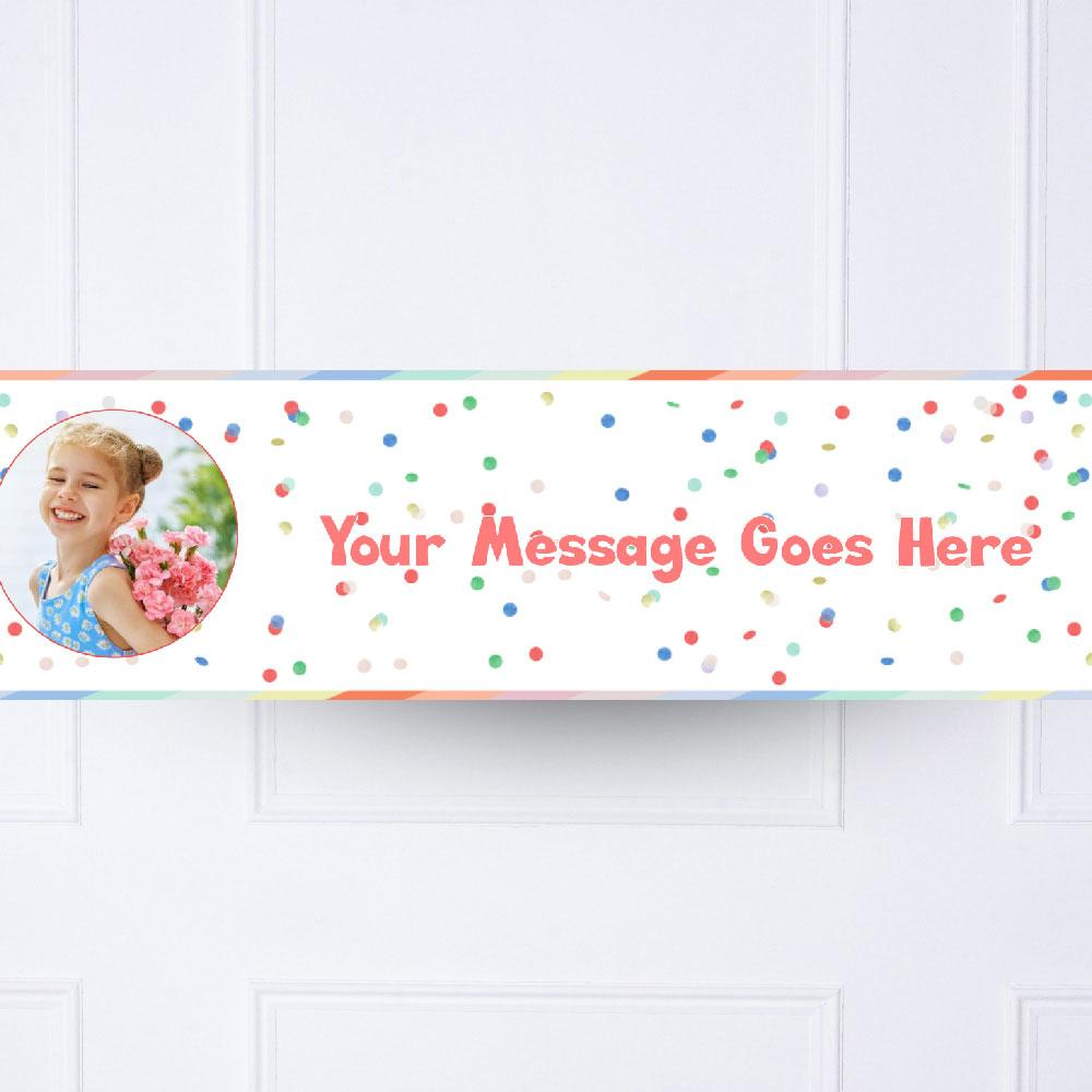 Kids Rainbow Bright Personalised Party Banner