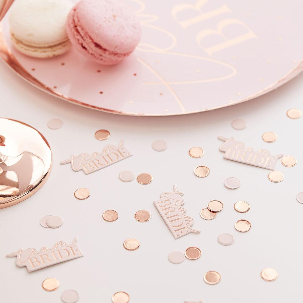 Blush Hen 'Team Bride' Confetti & Blush Disks