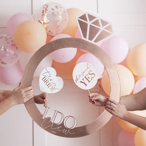 Blush Hen Rose Gold Ring Photo Booth Frame