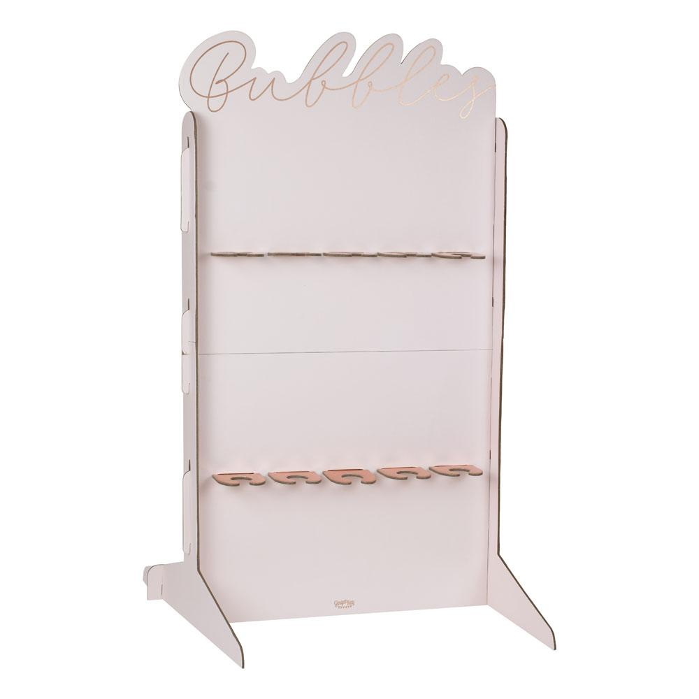 Blush Rose Gold Foiled Prosecco Wall