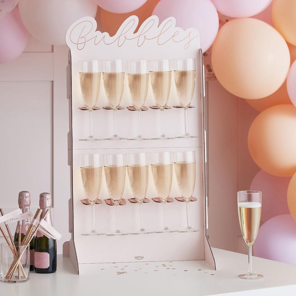 Blush Hen Rose Gold Foiled Prosecco Wall