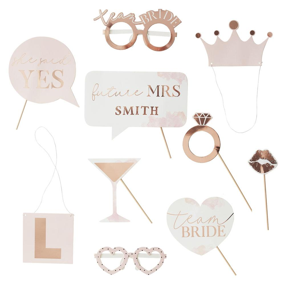 Blush Hen Customisable Photobooth Props