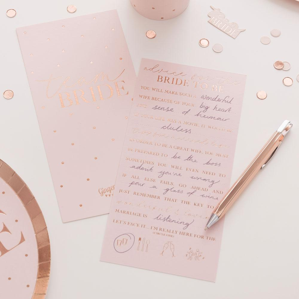 Blush Hen Advice Cards (x10)