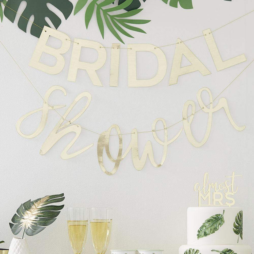 Botanical Gold 'Bridal Shower' Bunting