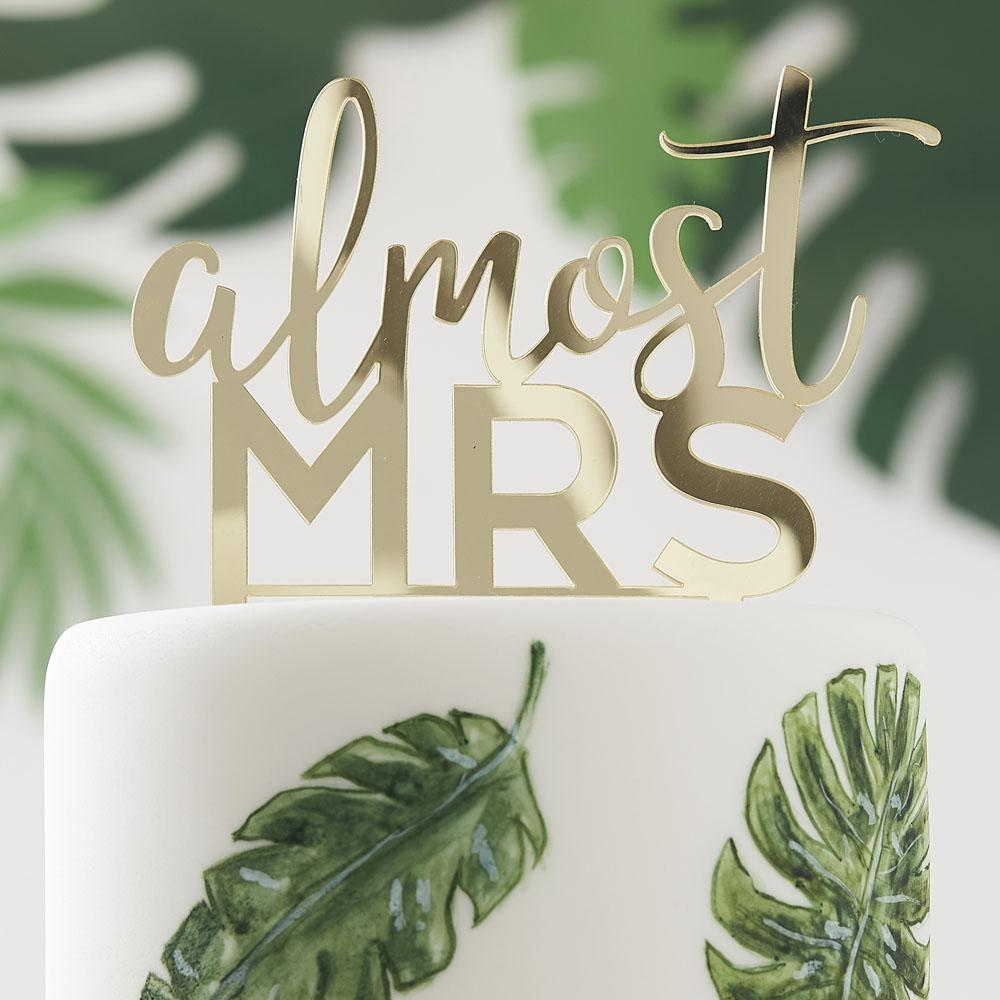 Botanical Gold Acrylic Cake Topper