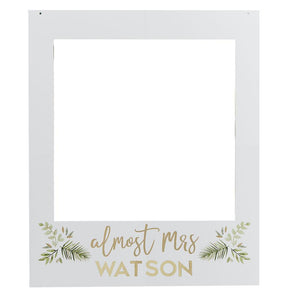 Botanical Gold Foiled Customisable Photo Booth Polaroid Frame