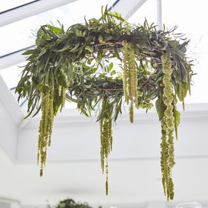 Botanical Bronze Foliage Hanging Chandelier