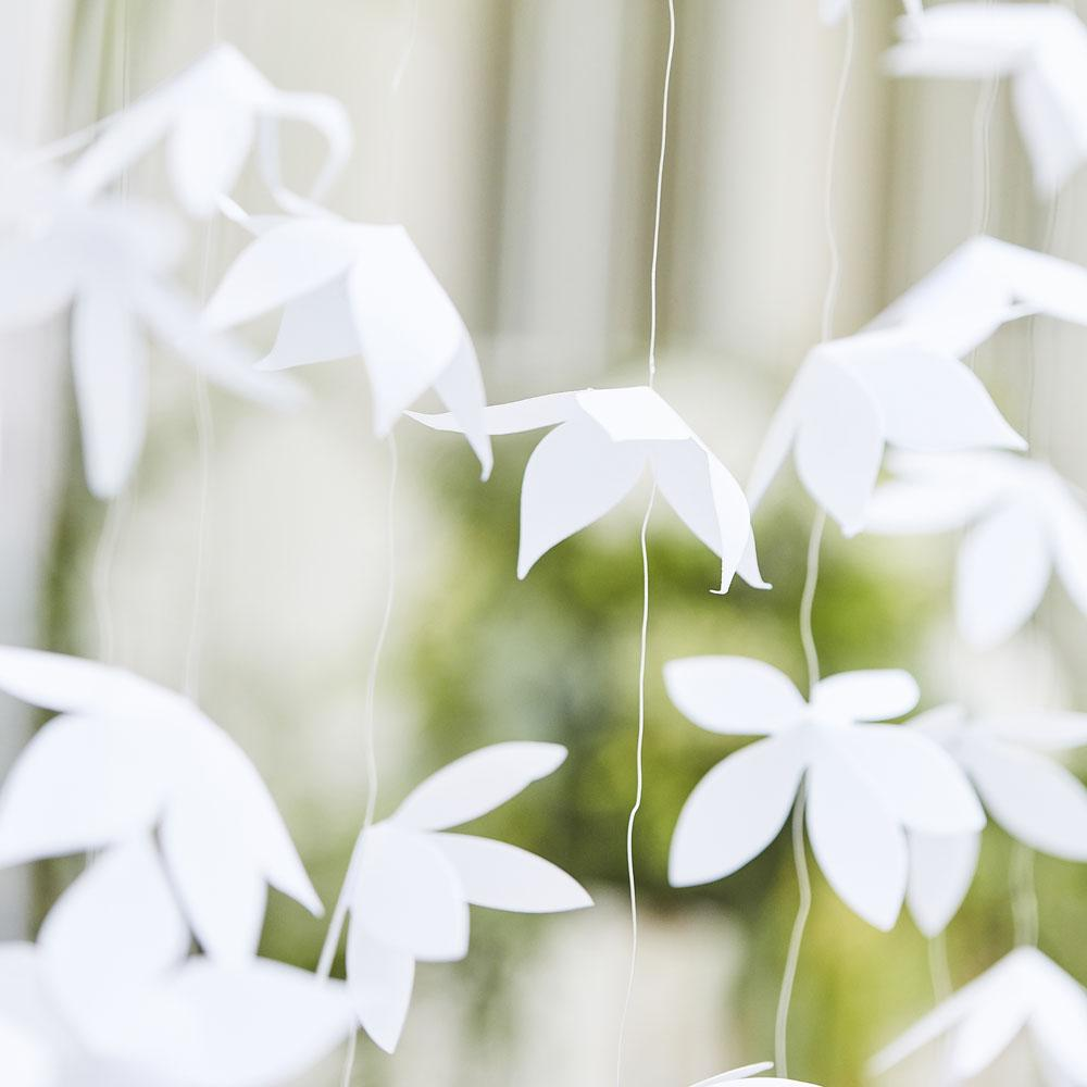 Botanical White Oragami Flower Backdrop