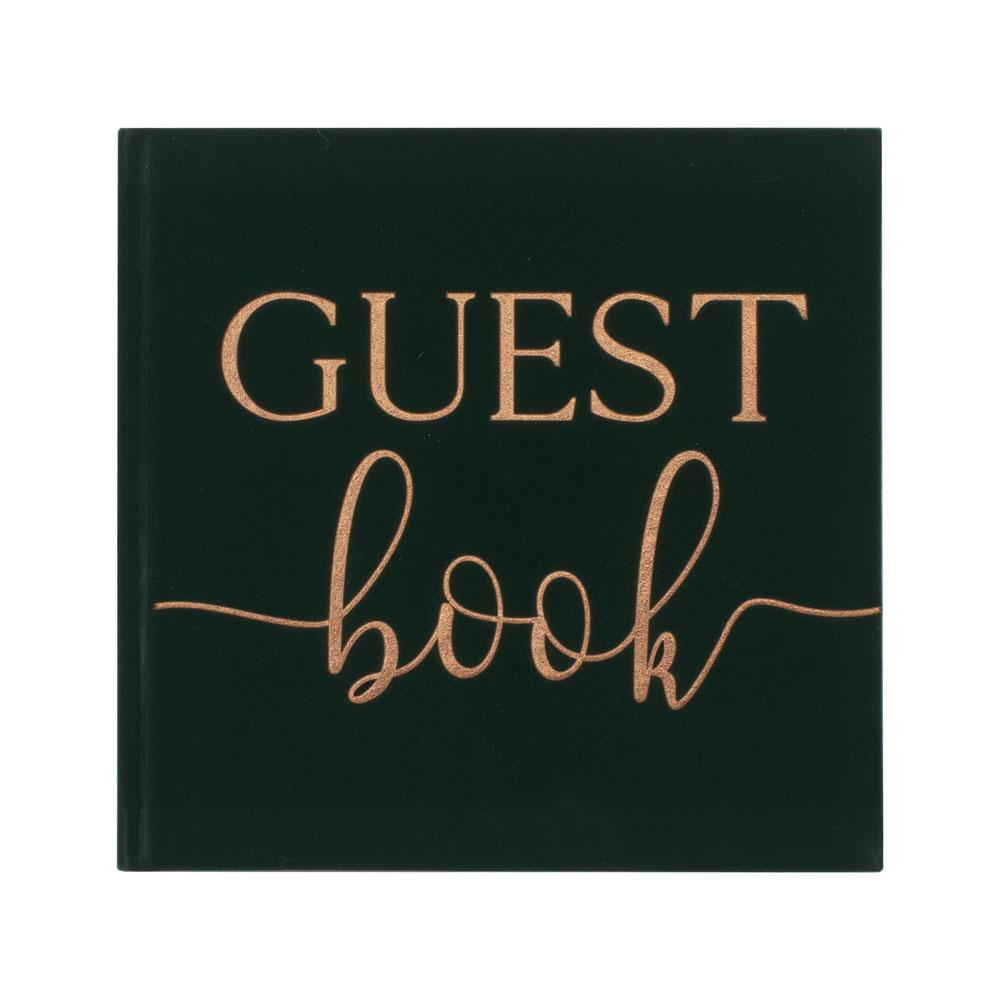 Botanical Velvet Bronze Foiled Guest Book