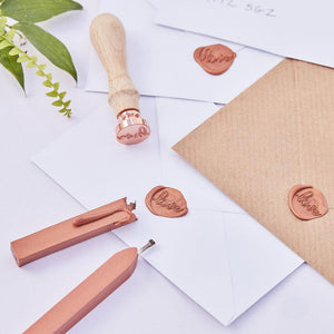 Botanical Bronze Wax 'With Love' Stamp Kit