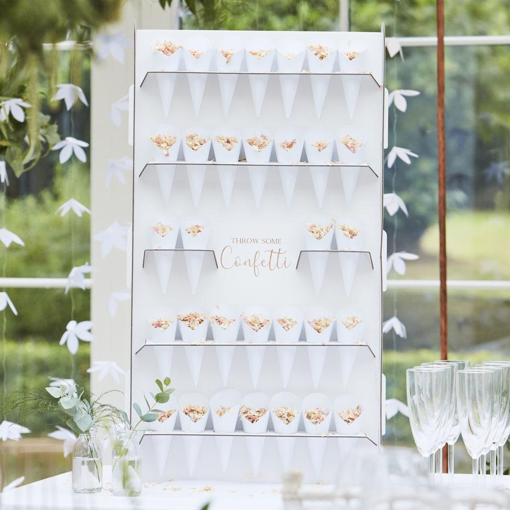 Botanical Confetti Stand With Cones