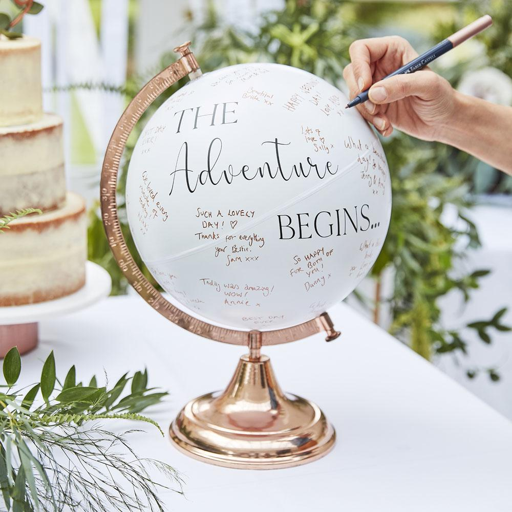 Botanical Globe Guest Book