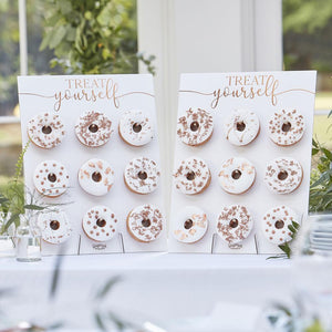 Botanical Rose Gold Doughnut Wall