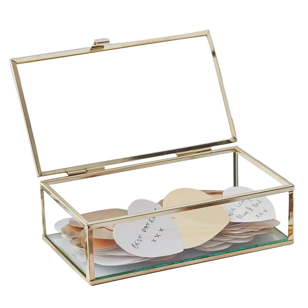 Botanical Glass Guest Book Trinket Box
