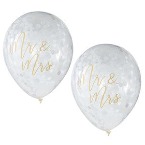 Botanical Mr & Mrs Balloons (x5)