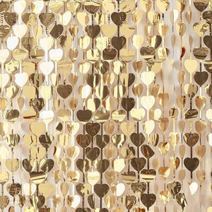 Gold Heart Backdrop