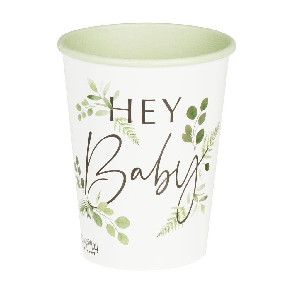 Botanical Hey Baby Cups (x8)