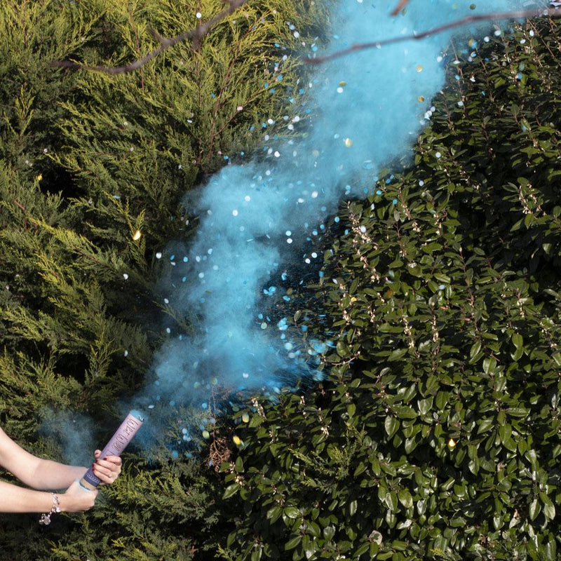 Gender Reveal Blue Smoke Cannon