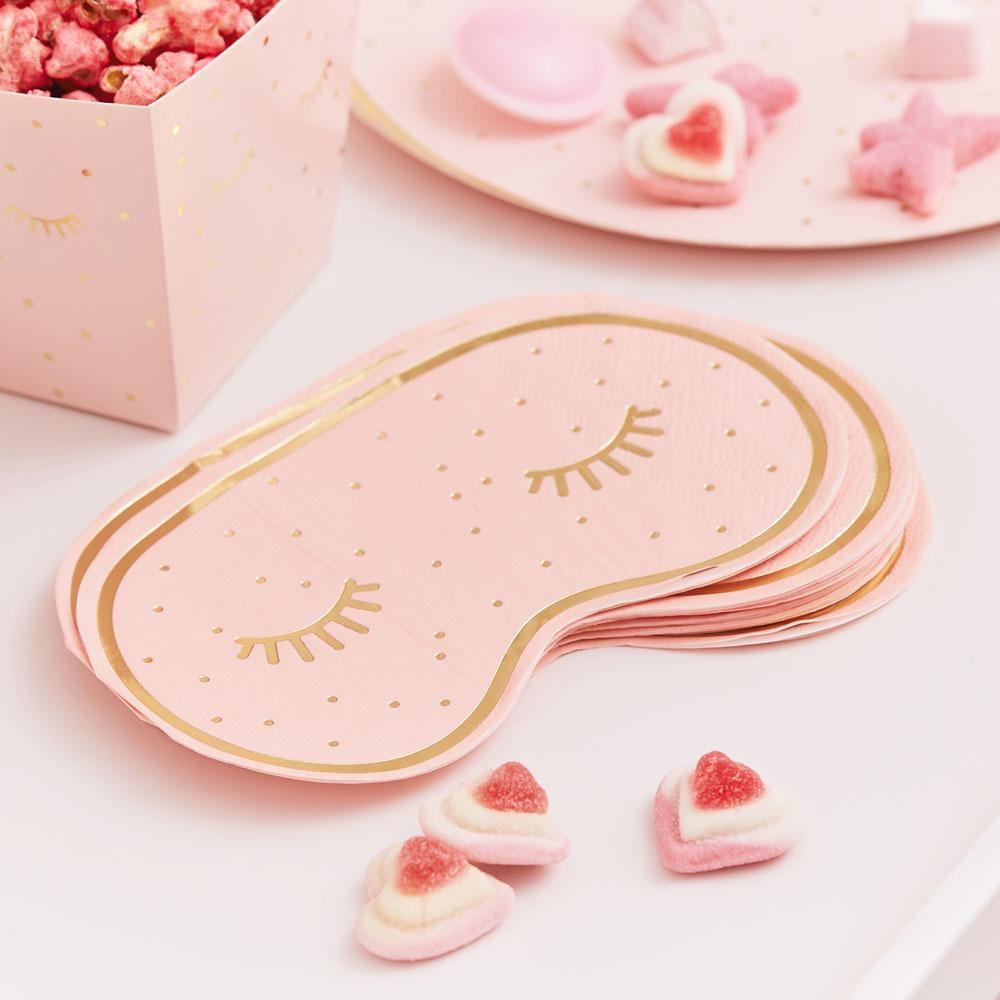 Click to view product details and reviews for Pamper Party Eye Mask Shaped Napkins.