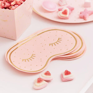 Pamper Party Eye Mask Shaped Napkins