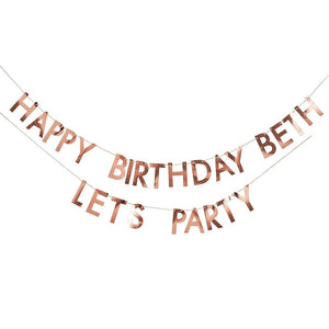 Mix It Up Rose Gold Customisable Bunting