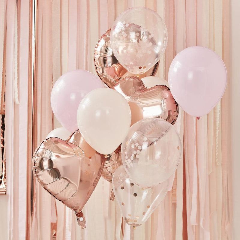 Mix It Up Rose Gold And Blush Balloon Bundle