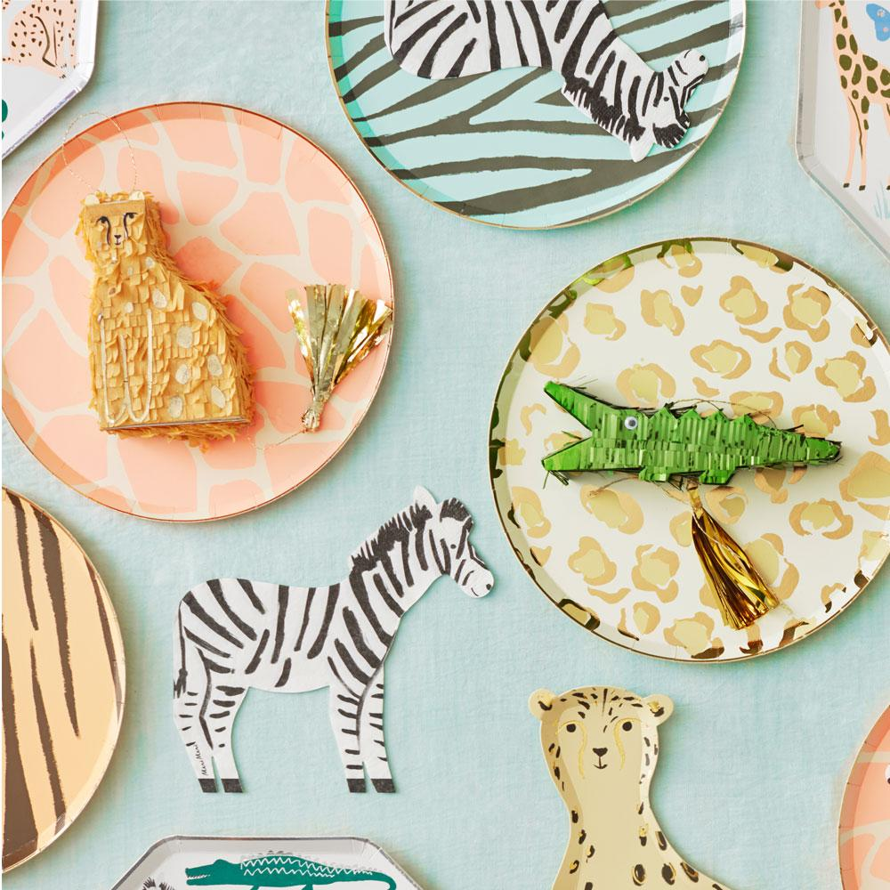 Safari Animal Print Dinner Plates (x8)