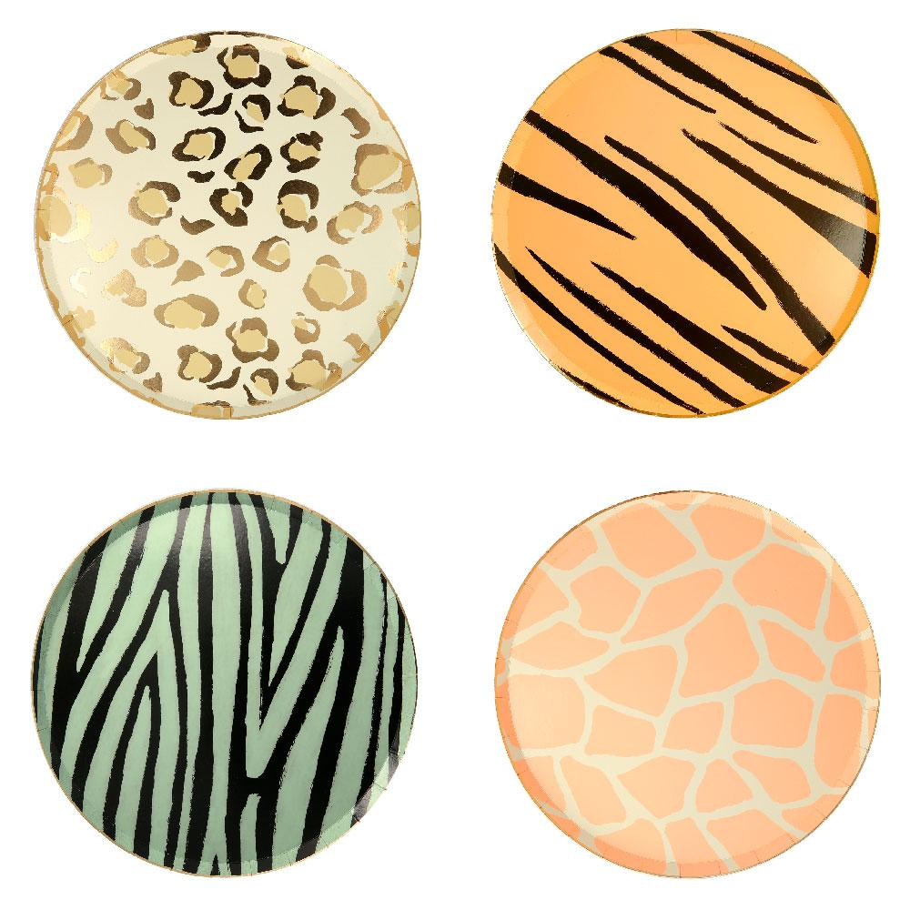 Safari Animal Print Side Plates (x8)