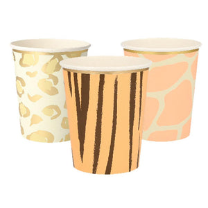 Safari Animal Print Party Cups (x8)