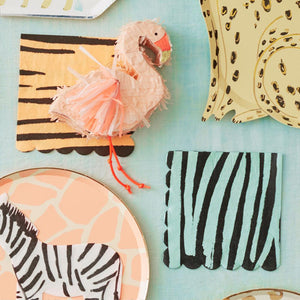 Safari Animal Print Large Napkins (x16)
