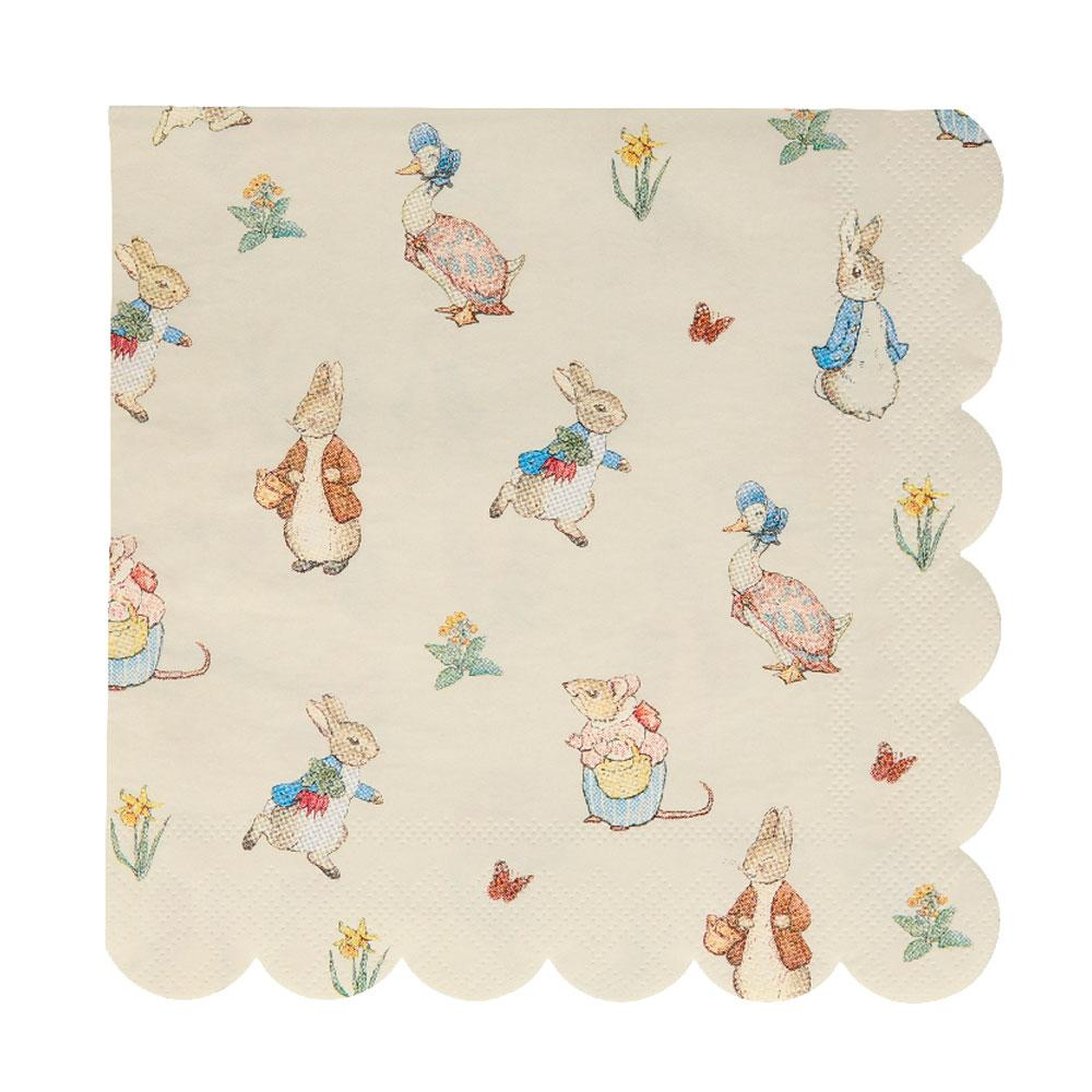 Peter Rabbit & Friends Large Napkins (x20)