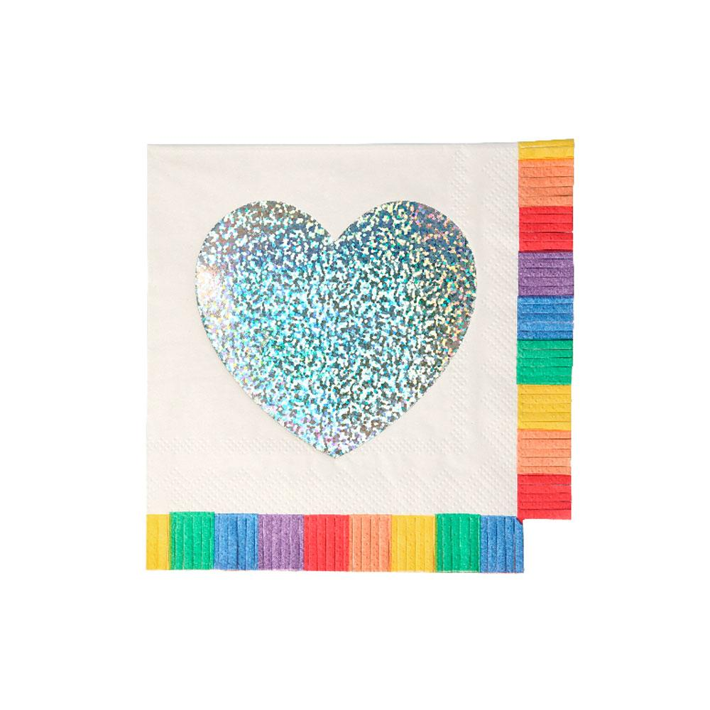 Rainbow Fringe Small Napkins (x16)