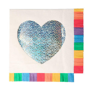 Rainbow Fringe Large Napkins (x16)