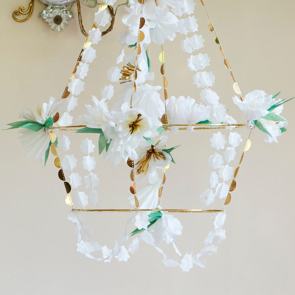Click to view product details and reviews for White Blossom Chandelier.