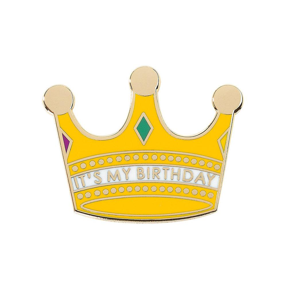 Crown Birthday Pin Badge