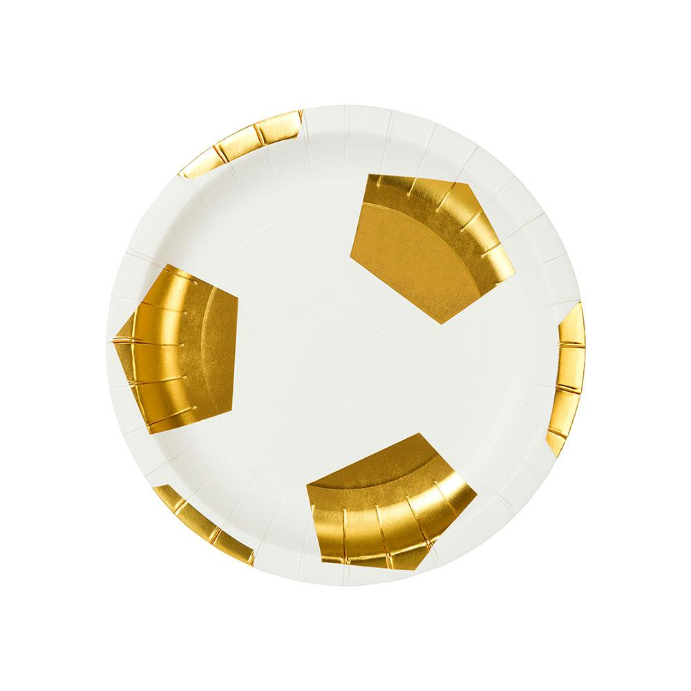 Football Champions Foiled Plates (x12)