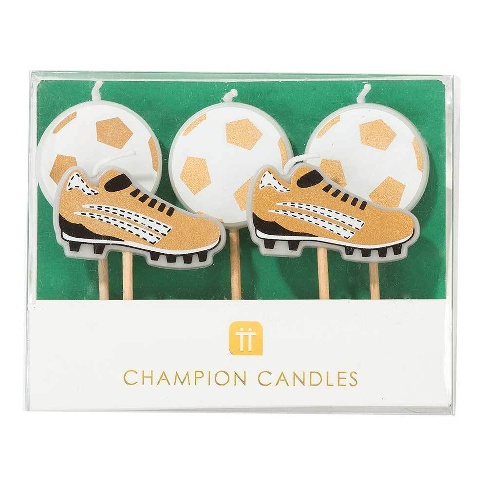 Football Champions Candles (x5)