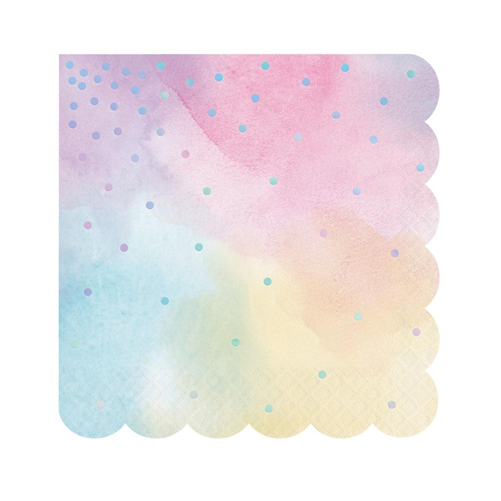Iridescent Party - Scalloped Napkins (x16)