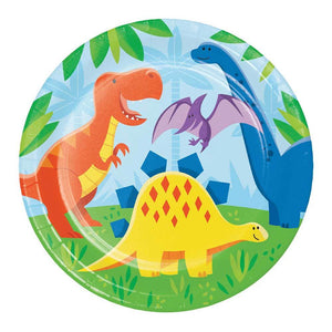 Dino Party Paper Dinner Plates (x8)