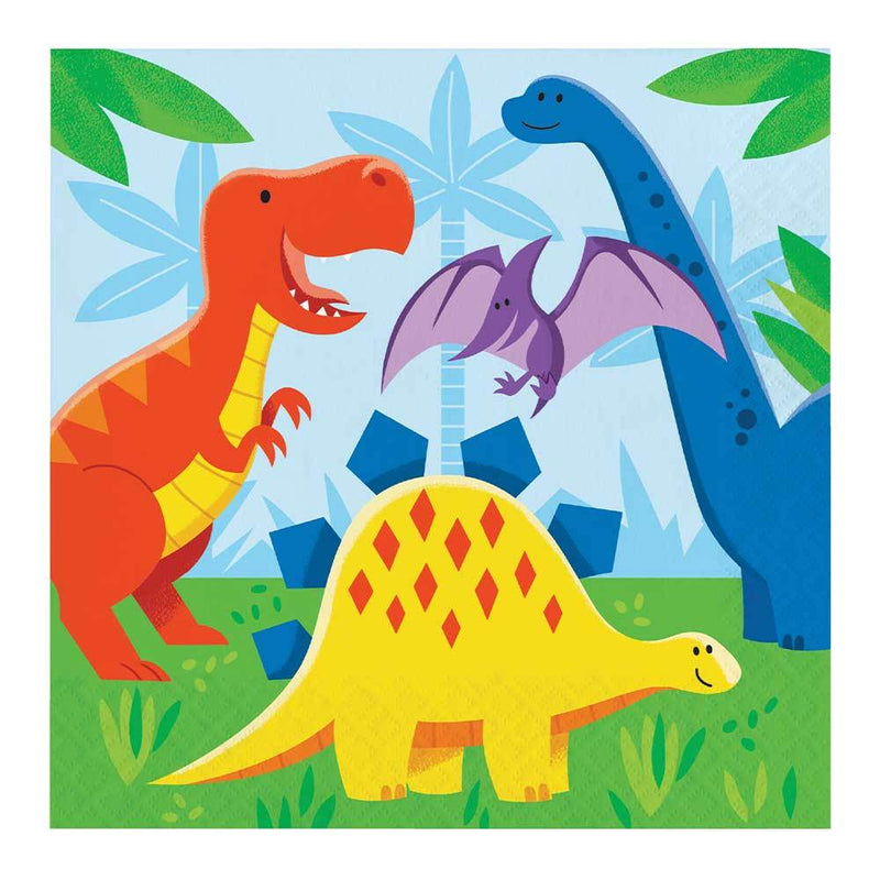 Dino Party Lunch Napkins (x16)