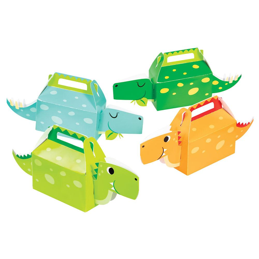 Dino Party Boy 3D Treat Boxes (x4)