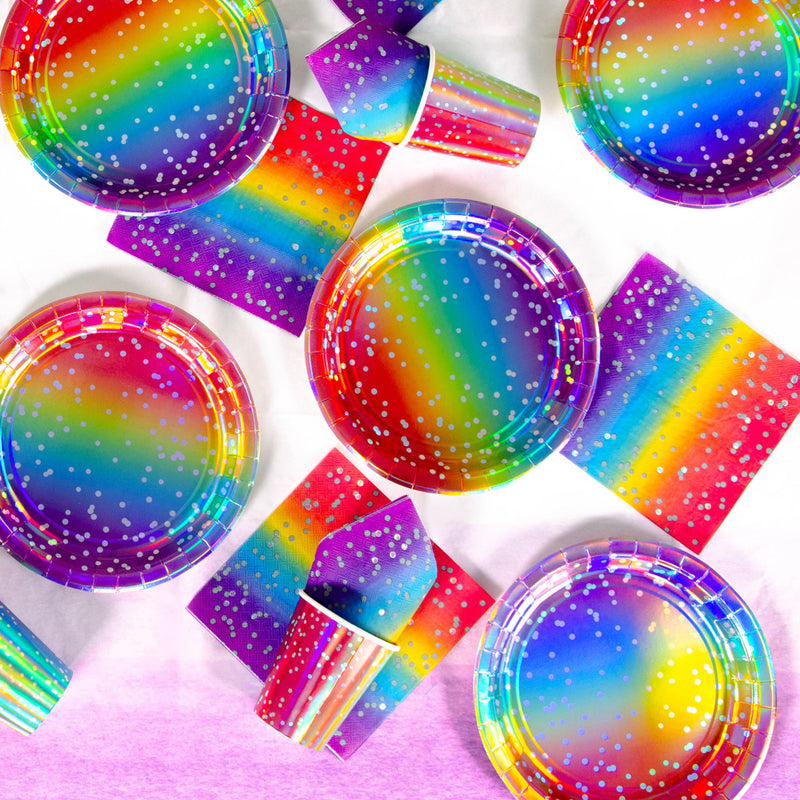 Metallic Rainbow Table Set (x8)