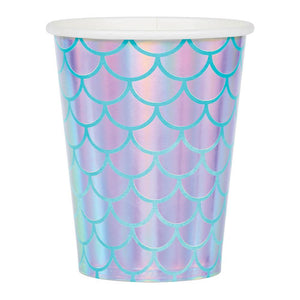 Mermaid Shine Paper Cups Iridescent Foil (x8)