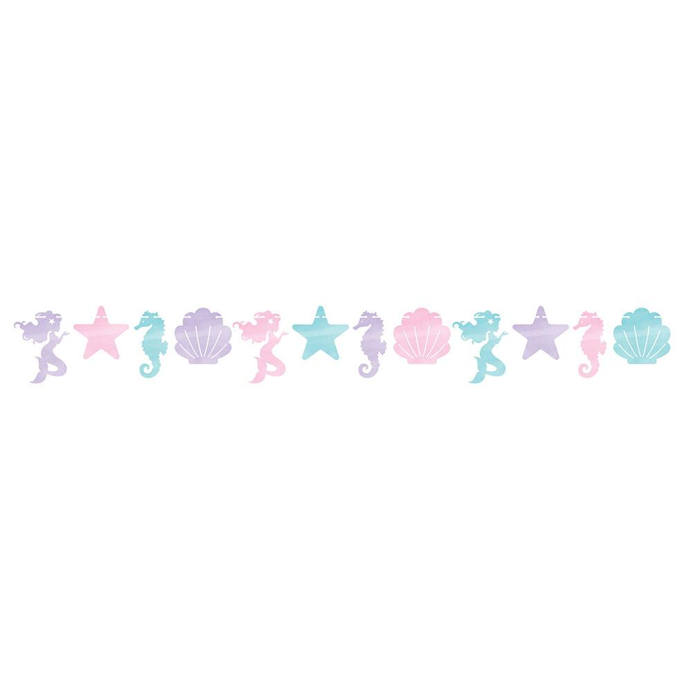 Mermaid Shine Shaped Banner With Twine