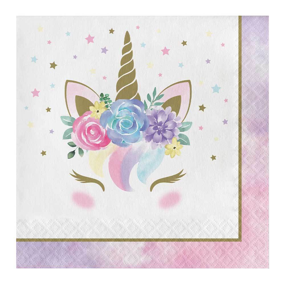 Unicorn Baby Lunch Napkins (x16)