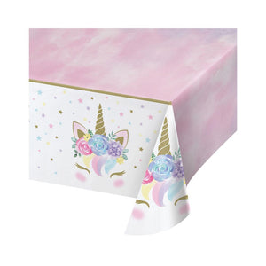 Unicorn Baby Plastic Table Cover