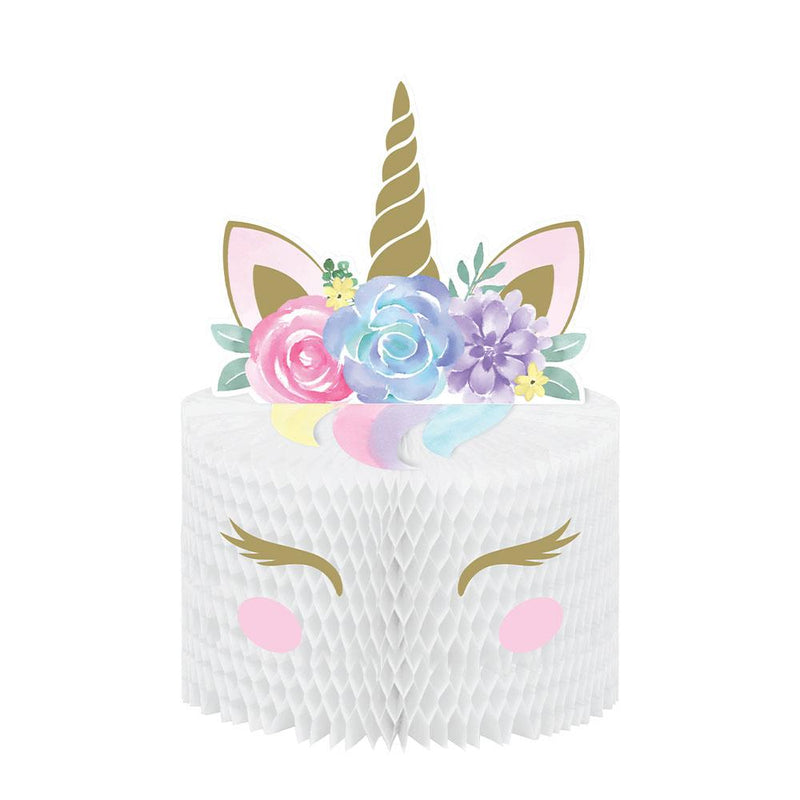 Unicorn Baby Honeycomb Centrepiece with Attachments