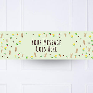 Little Bunnies Personalised Party Banner